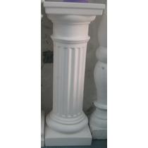 Columna Yeso Decorativa 60 Cm Dórica Base 20x20 Cm
