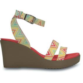 Sandalia Crocs Dama A-leigh Graphic Wedge Multicolor