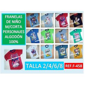 Franelas De Niños Personajes,medias,short,interior