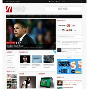 Template Joomla Responsivo 3.0 Portal De Noticias - J566