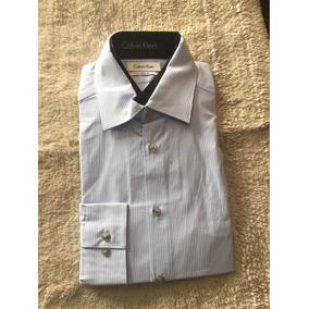 Camisa De Vestir Calvin Klein Slim Fit - Grande- Envio Inc