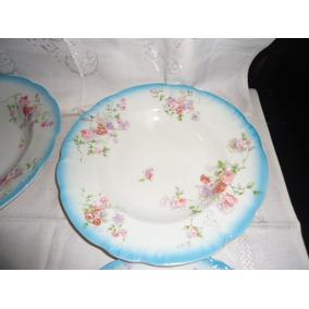 Prato Ingles Fundo De Porcelana J. & G. Meakin Com Rosas