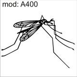 Adesivo A400 Mosquito Dengue Pernilongo Inseto Asa Voa