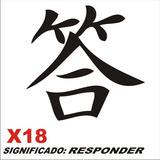 Adesivo X18 Ideograma Chinês Significado Responder