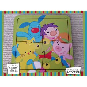 Souvenir Rompecabeza Personalizado Madera 10x10 Sapo Pepe