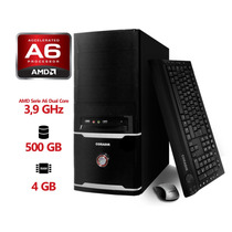 Pc Eco Coradir Amd A6 3.9ghz Dual Core 4gb 500 Gb W8.1+kit