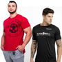 Camiseta Dry Fit + Mescla Estonada - Black Skull