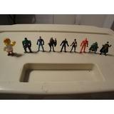 Lote De 9 Muñequitos Jack (8 Superheroes Y Un Simpson) $200