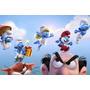 Painel Decorativo Festa Infantil Aniversário Smurfs (mod6)