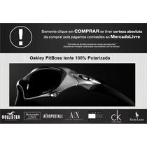 Oculos Da Oakley Pitboss Armação Preta