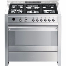 Cocina Combinada 90 Cm Smeg A1-7 Italiana No Ariston-glem