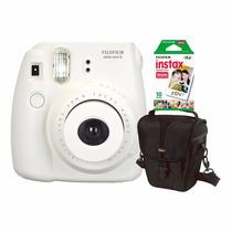 Câmera Fujifilm Instax Mini 8 Branca C/ Estojo E 10 Fotos