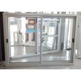 Ventana Aluminio Blanco 1,50 X 1,10 C/mosquitero Y Persiana