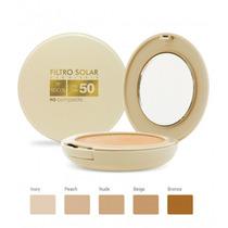 Pó Compacto Filtro Solar Fps 50 Peach Adcos + Brinde!!!
