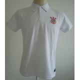 Camisa Pólo Corinthians Basic Branca Bordada Lançamento !!!