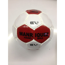 Balon De Handball No 2 Manriquez Km0200 Blanco Rojo