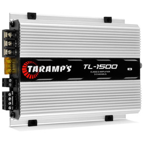 Módulo Amplificador Taramps Tl-1500 390w Rms 3x Rca 1500