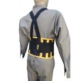 Faja Lumbar De Trabajo Reforzada Doble Velcro Factura A O B