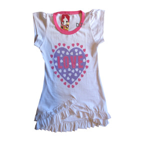 Remera Manga Corta Tunica Vestido Algodon Ideal Calzas Nenas