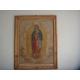Antiguo Cuadro Con Cromo De La Virgen De Guadalupe De 1884