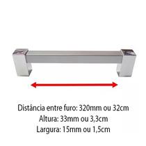 Puxador Para Moveis Armario Porta Gaveta 320mm Mod1