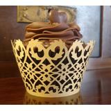 Forminha Saia Wrapper Para Cup Cake Dourado Ouro