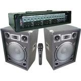 Equipo De Musica Cabezal + 2 Bafles + Microfono + Cables