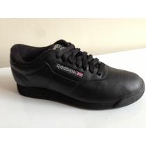 Reebok Clasico Negro 100% Original Zapato Dama Ultimas Tall