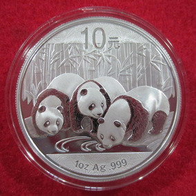Moneda 2013 Panda 10 Yuan De China .999 Plata Pura 1 Oz Troy