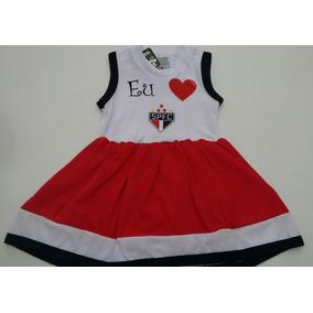 Vestido Bebê São Paulo Futebol Clube