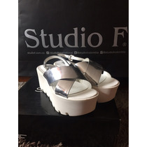 Sandalias Plateadas Studio F
