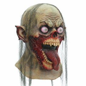 Mascara Zombie Tongue Slasher Latex Halloween Dia D Muertos