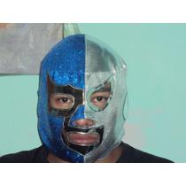 Mascara Luchador De Santo Blue Demon Adulto Semiprofesional