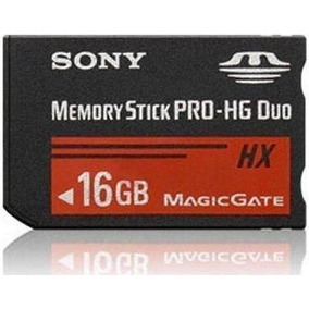 Cartão Memória Memory Stick Pro-hg Duo Hx 16gb Psp / Câmera