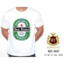 Camiseta Masculina Carnaval Frases - Heineken - Cerveja
