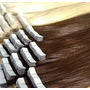 Aplique Mega Hair Fita Adesiva Loiro Clarissimo 70 Cm 20 Pç