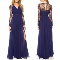 Vestido Longo Azul Feminino Festa Formatura Importado Barato