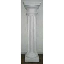 Columna Yeso Decorativa 80 Cm Dórica Base 20x20 Cm