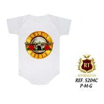 Guns Roses Body Infantil Bandas Famosas Rock N