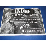 Indio Solari -poster Publicitario De Recital (uruguay)