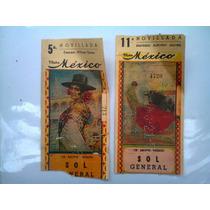 Boletos De Toros Plaza México 2 Antiguos De Colección 11