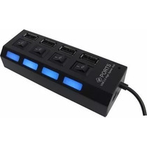 Hub Usb Led 4 Puertos Computadoras Pc Laptop Memoria Switch