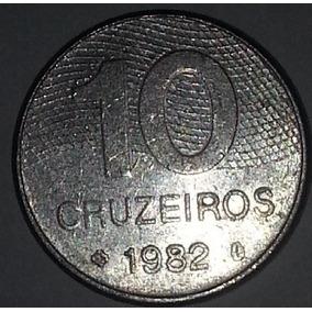 Moeda Brasileira Antiga - 10 Cruzeiros 1982