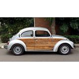 Adesivo Envelopamento Fusca Wood Volkswagen