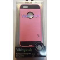 Protector Iphone 6g Rosa Pastel Metálico Olé Vikingotek