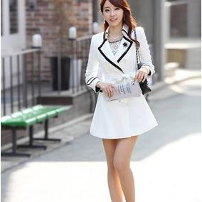 Saco Vestido Gabardina Elegante Primavera Elegante 875
