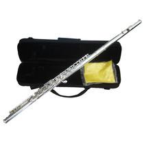 Flauta Traversa 17 Llaves En Do C Con Estuche Rigido Plata