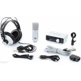 Kit Microfone + Fone + Interface Focusrite Itrack Studio