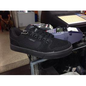 Zapatos Oklesh Todo Negro Colegial Skate Para Clases