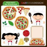 Kit Imprimible Pizza Party 2 Imagenes Clipart